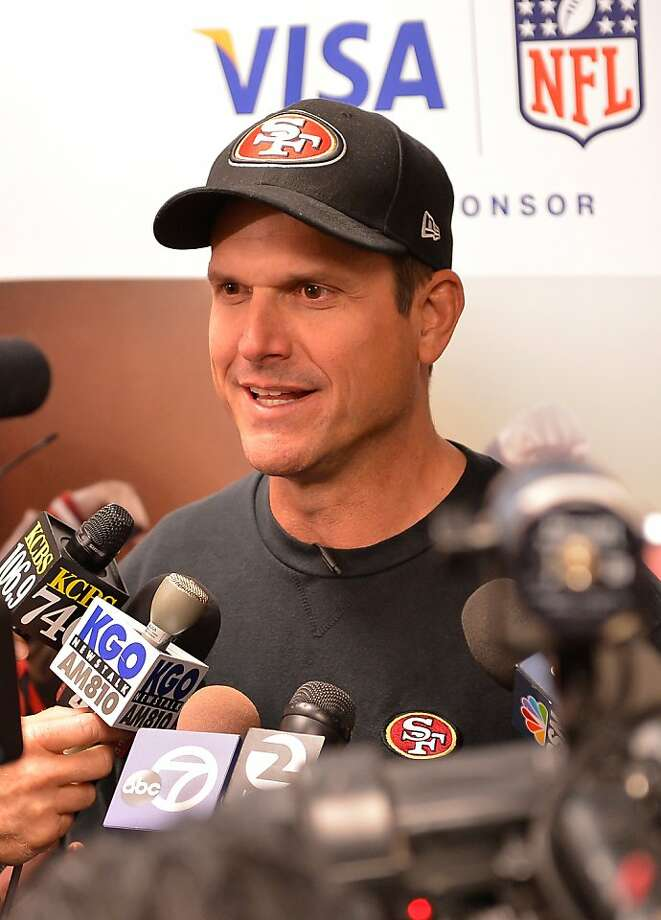"Jim Harbaugh ""looked like he might not have slept particularly well,"" but impressed coaches. Photo: Steve Jennings, Getty Images For Visa"