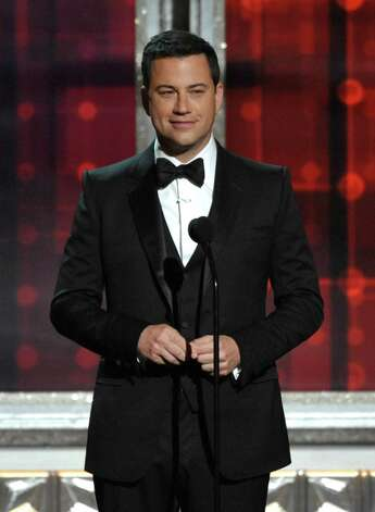 Host Jimmy Kimmel speaks onstage at the 64th Primetime Emmy Awards at the Nokia Theatre on Sunday, Sept. 23, 2012, in Los Angeles. (Photo by John Shearer/Invision/AP) Photo: John Shearer / Invision