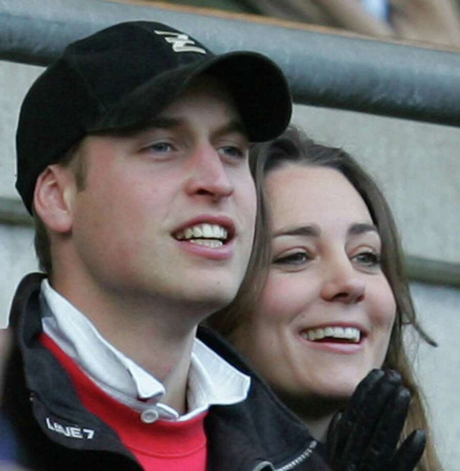 Britain's Prince William, left, and Kate Middleton as they watch rugby match at Twickenham stadium in London. Photo: ALASTAIR GRANT, AP / AP