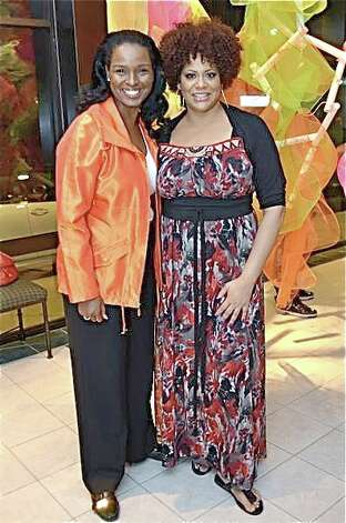 "Winell Herron, left, and honorary chair Kim Coles at ""In Living Color,"" the 2012 Houston Museum of African-American Culture gala at the Ensemble Theatre. Photo: Emile Browne"