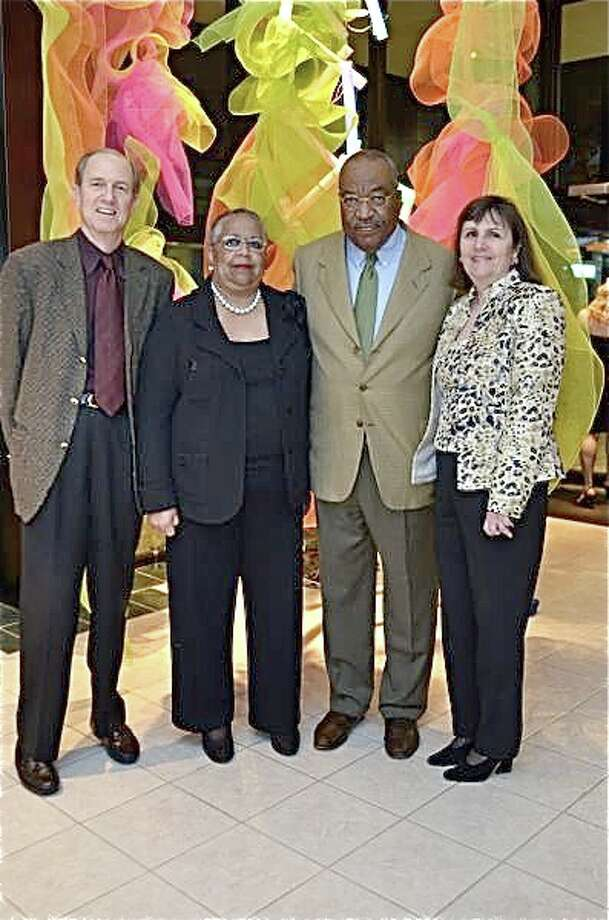 Harmon Kelley, from left, Brad and Leslie Bucher and Harriett Kelley Photo: Emile Browne