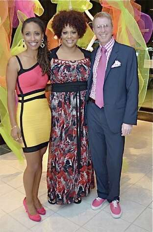 Matt and Joi Probus with Kim Coles, center Photo: Emile Browne