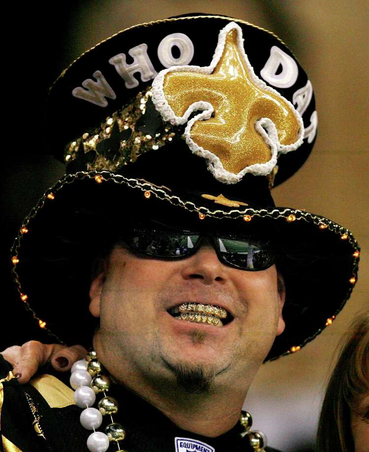 """Who Dat""The New Orleans Saints slogan is owned by Sal and Steve Monistere, who helped co-write a version of ""When the Saints Go Marching In."" After years of litigation between the Monisteres and the NFL, both parties agreed to work together in January of 2012 to create and sell Who Dat-themed items. Photo: Eliot Kamenitz, ASSOCIATED PRESS / The Times-Picayune"