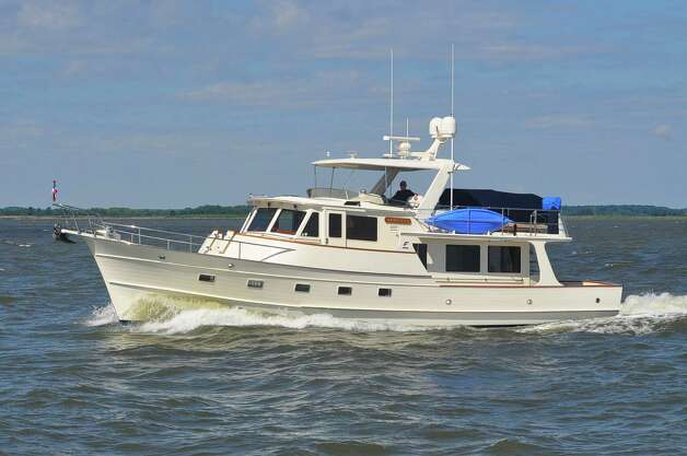 Aimless is underway on its journey up the East Coast of the U.S. with former Mayor Phil Hardberger at the helm. Hardberger takes extended journeys in the 55-foot trawler with wife Linda. Photo: Susan Lister, Courtesy Photo