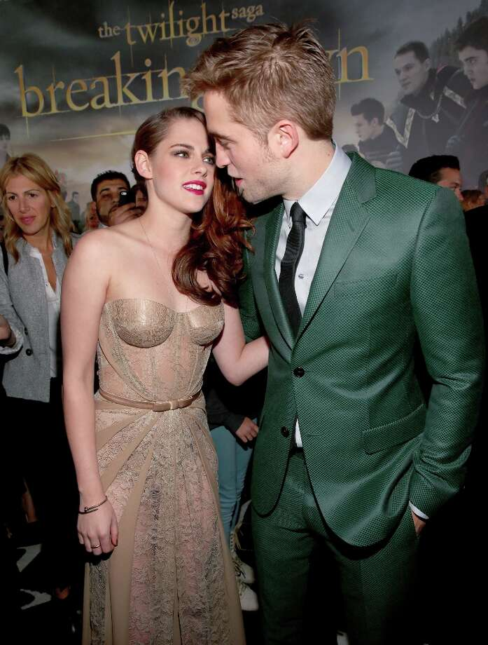 """Actors Kristen Stewart (L) and Robert Pattinson arrive at the premiere of Summit Entertainment's """"The Twilight Saga: Breaking Dawn - Part 2"""" at Nokia Theatre L.A. Live on November 12, 2012 in Los Angeles, California. Photo: Christopher Polk, Getty Images / 2012 Getty Images"""