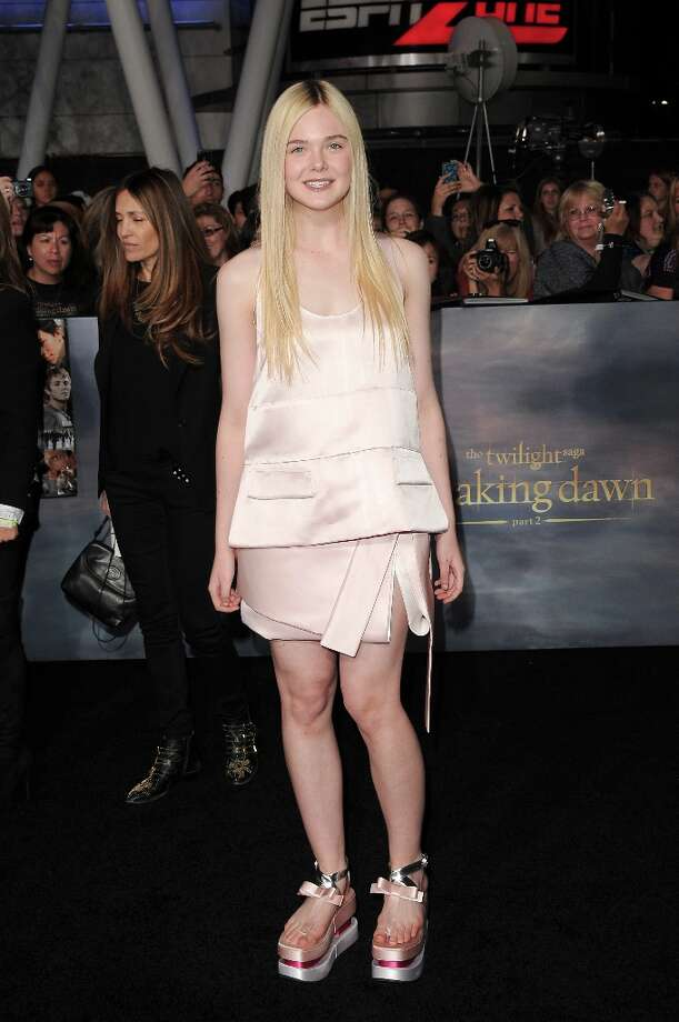 Actress Elle Fanning arrives at the premiere of Summit Entertainment's 'The Twilight Saga: Breaking Dawn - Part 2' at Nokia Theatre L.A. Live on November 12, 2012 in Los Angeles, California.  (Photo by Jason Merritt/Getty Images) Photo: Jason Merritt, Getty Images / 2012 Getty Images
