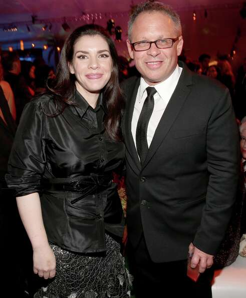 Author Stephenie Meyer (L) and director Bill Condon attend the premiere of Summit Entertainment's