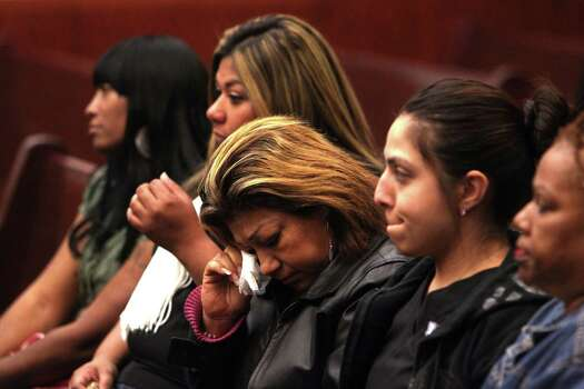 Grandmother Rosie Castillo waiting for verdict in the Jessica Tata day care fire murder trial on Tuesday, Nov. 13, 2012. Photo: Johnny Hanson / Houston Chronicle