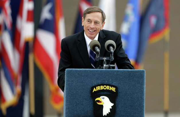 CIA Director David Petraeus during a ceremony at Fort Campbell, Ky. The scandal over his extramarital affair does not detract from his accomplishments. Photo: Mark Humphrey, Associated Press / AP