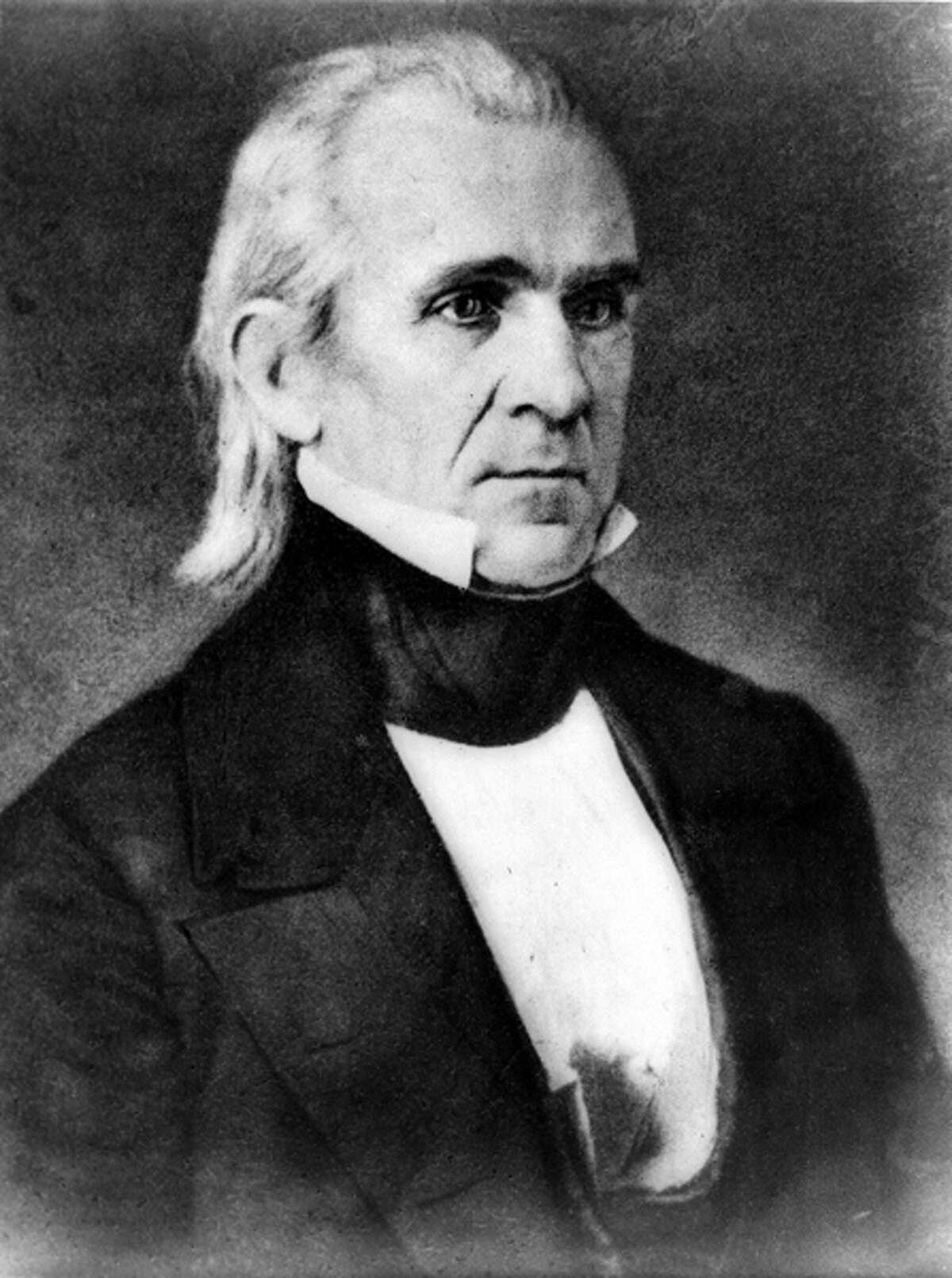 1845: U.S. President James Polk signs the act admitting Texas as a state. It was the first time a sovereign nation voluntarily gave up its sovereignty to become part of another nation (the opposite of secession).