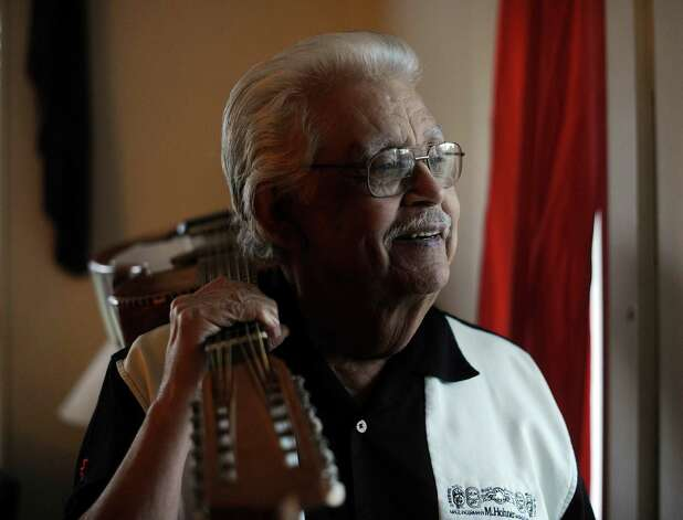 "Jesus ""Chucho"" Perales was the legendary guitarist for the first Chicano rock 'n' roll band -- Mando & the Chili Peppers. He is dealing with serious health issues -- pulmonary fibrosis and inoperable prostate cancer. Nov. 8, 2012. Photo: Billy Calzada, Staff / © 2012 San Antonio Express-News"