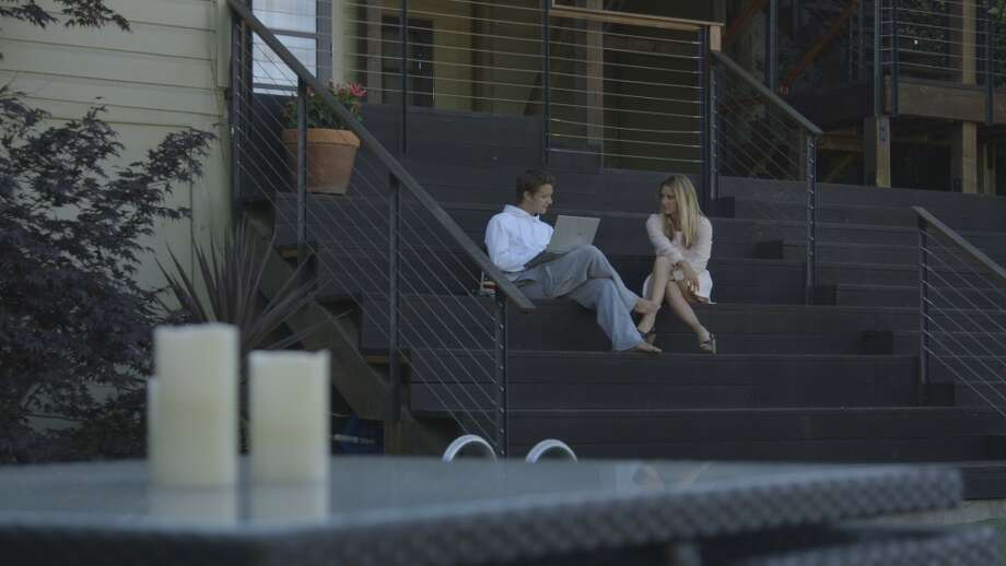 Ben and Hermione May sit and chat in an episode of Start-Ups, the new reality show on Bravo about life as a young entrepreneur in Silicon Valley. The sibling duo were separated at a young age by their parents' divorce, but reunited in Silicon Valley to start Ignite, a company that hopes to help promote healthier lifestyles. Photo: Bravo, Screengrab / 2012 Bravo Media, LLC
