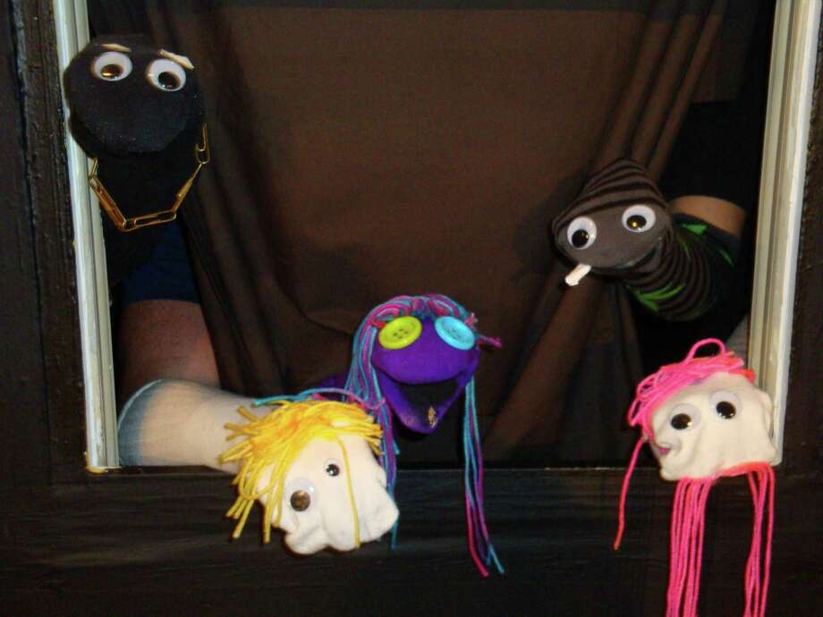 "The Shock Puppets meet their  maker in the Rose Theatre Company's ""Death of the Shock Puppets."" Photo: Courtesy, Rose Theatre Co."