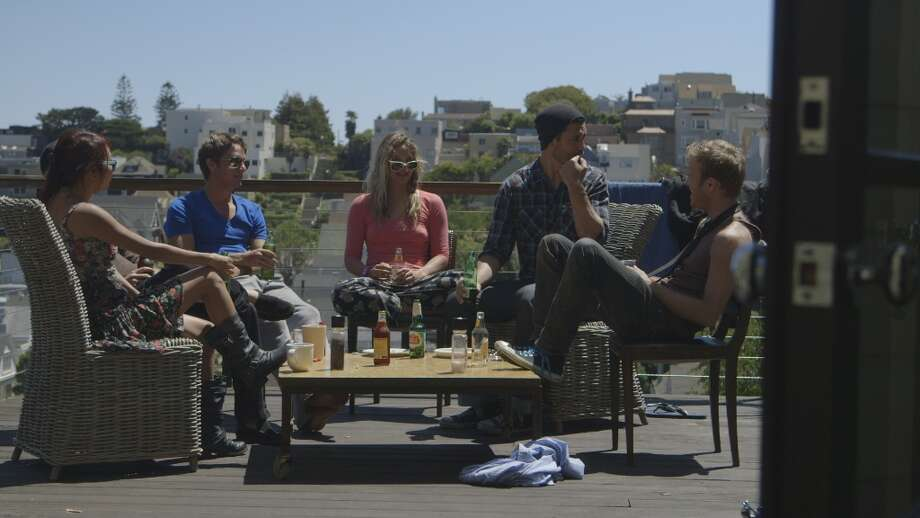 Kim Taylor, Ben Way, Hermione Way, Dwight Crow and David Murray take some time off from the fast-paced life of a young Silicon Valley entrepreneur. Bravo's new reality show Start-Ups features off-moments like these, as well as the fast-paced day-to-day grind of life as the owner of a fledgling Northern California business. Photo: Bravo, Screengrab / 2012 Bravo Media, LLC