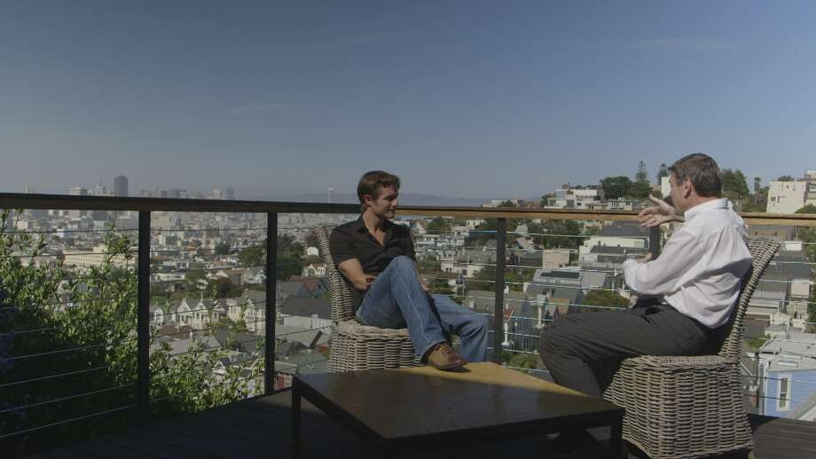 Ben Way, young businessman, sits on a balcony above an impressive California landscape - the backdrop to Bravo's new reality show Start-Ups. Photo: Bravo, Screengrab / 2012 Bravo Media, LLC