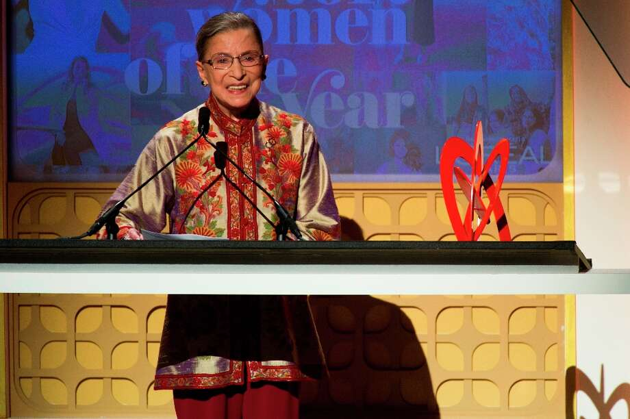Award recipient Supreme Court Justice Ruth Bader Ginsburg appears onstage at the Glamour Women of the Year Awards on Monday, Nov. 12, 2012 in New York. (Photo by Charles Sykes/Invision/AP) Photo: Charles Sykes, Associated Press / Invision