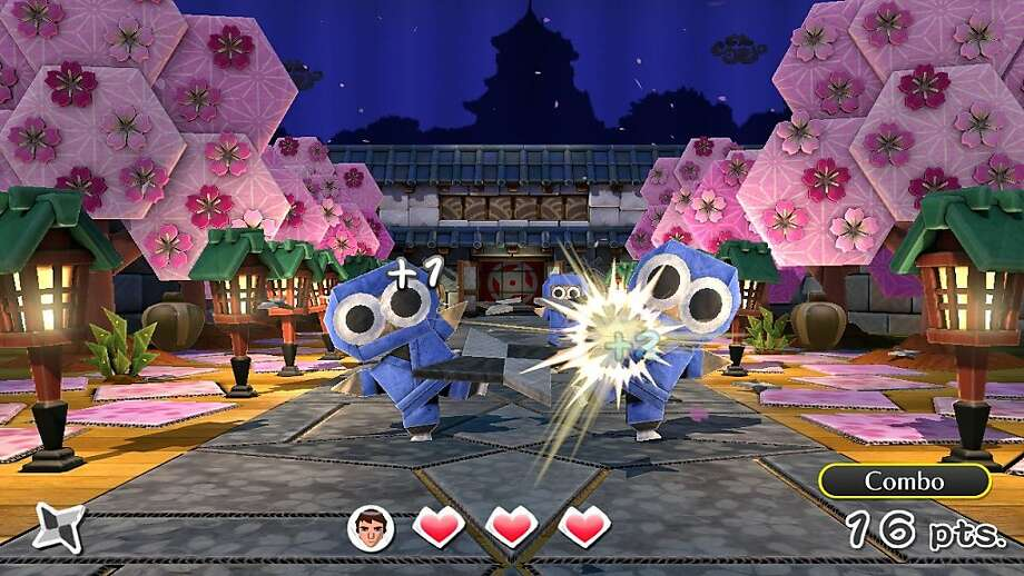 "A screen shot from the ""Nintendo Land"" game Takamaru's Ninja Castle -- one of 12 games in the new release for the Wii U. Photo: Courtesy Nintendo Of America"