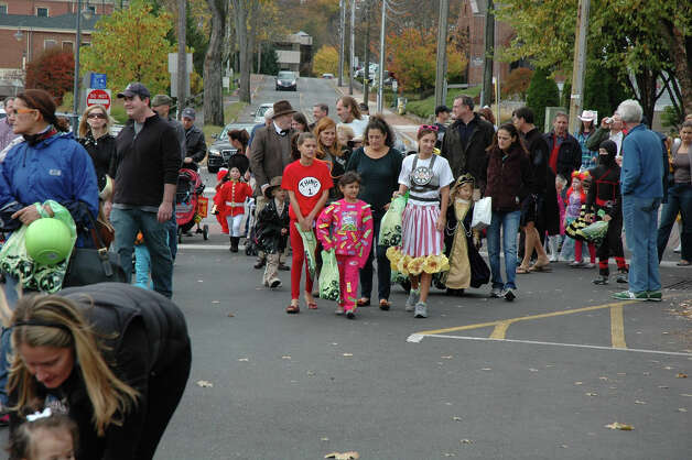 The 31st annual Halloween Parade, sponsored by the New Canaan Chamber of Commerce, takes off in the downtown area on Sunday, Oct. 28. Hundreds turned out to join in the fun. Photo: Contributed