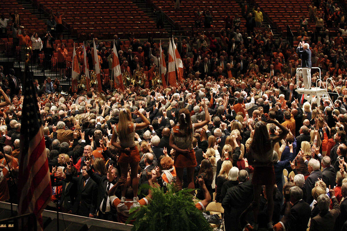The University of Texas Longhorn Band performs