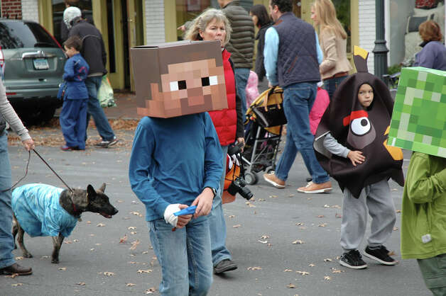 Some of the costumes were clever and elaborate at the 31st annual Halloween Parade, sponsored by the New Canaan Chamber of Commerce, on Sunday, Oct. 28. Photo: Contributed