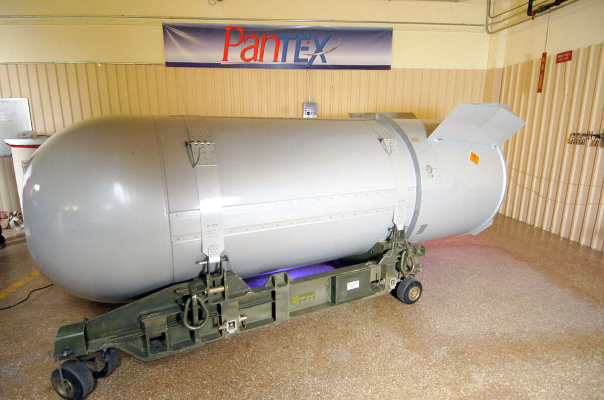 This 10,000-poundB-53 nuclearbomb was dismantled in 2011, but the U.S. currently has the 1.2 megaton B-83 in their arsenal.Click through to see what the B-83, the Hiroshima atom bomb and other nuclear weapons could do to the Corpus Christi area, which was nearly the site of nuclear weapons testing in 1945.