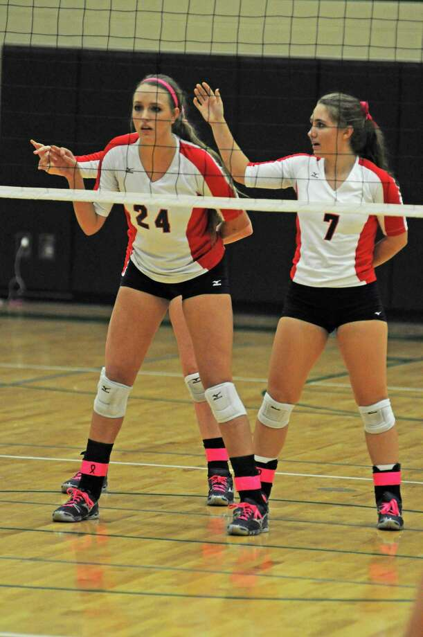 Clear Lake's Sarah Strasner, left, and Sam Volk are part of a talented senior class for the Lady Falcons, and this week they're at the UIL State Tournament in Garland. Photo: L. Scott Hainline / Chronicle