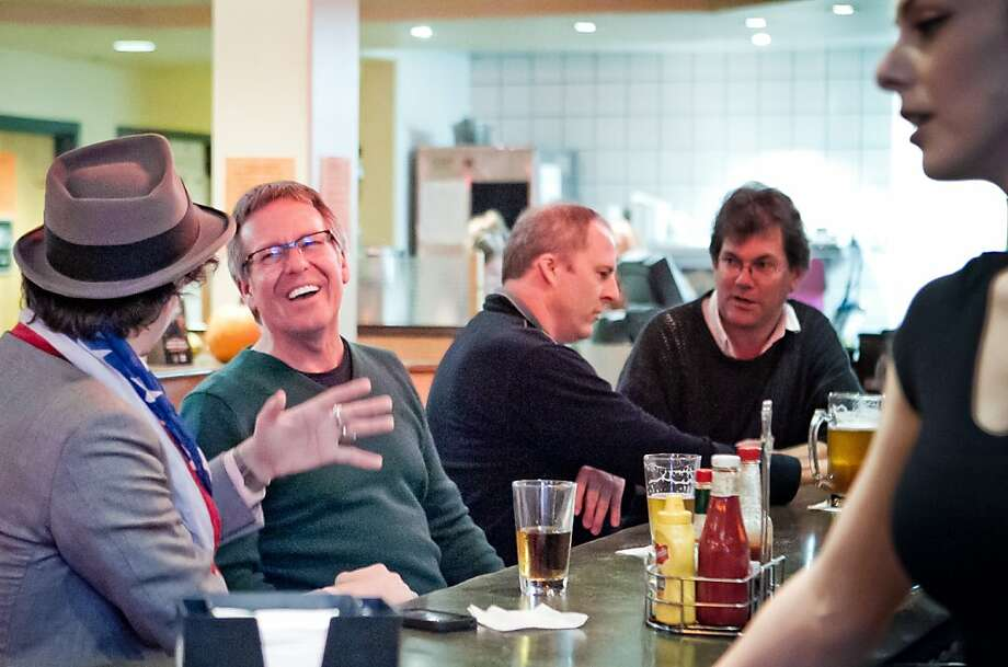 Customers enjoy happy hour at the Broken Drum Brewery in San Rafael. Photo: John Storey, Special To The Chronicle