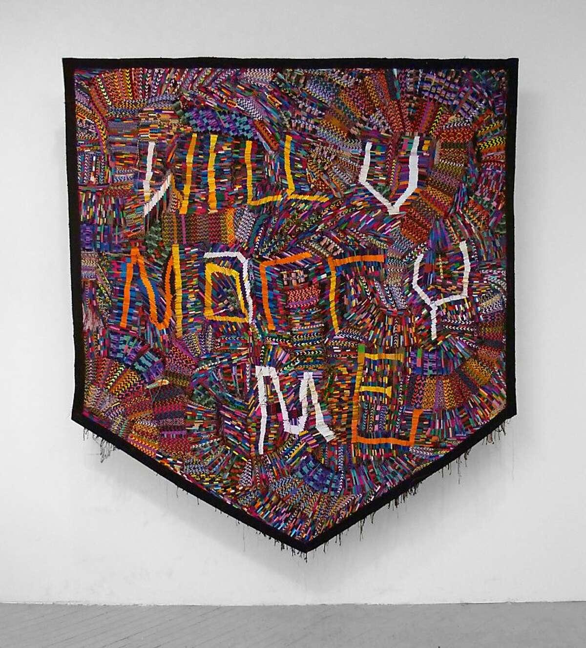 "Adam Parker Smith's ""Proposal"" (2012), hand woven bracelets, 96"" by 102"""