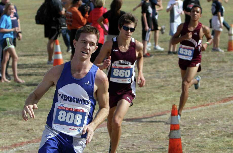 Friendswood's Ryan Teel competes in the boys Class 4A UIL State Cross Country Championship at Old Settlers Park, Saturday, Nov. 10, 2012, in Round Rock, Texas. Teel finished first in the race. (AP Photo/The Courier, Jason Fochtman) Photo: Jason Fochtman, MBR / AP