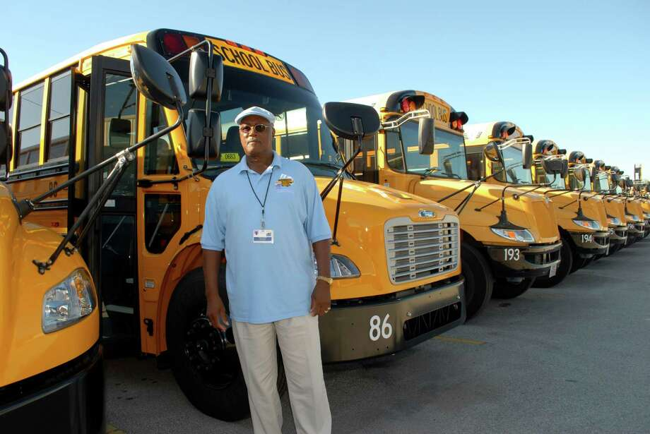 "Spring Branch school district bus driver Bill Baker says it is crucial for drivers to gain respect from their young riders. ""It takes a special kind of person to drive a school bus,"" says Baker, who has been driving for the district for seven years. Photo: George Wong / Freelance"