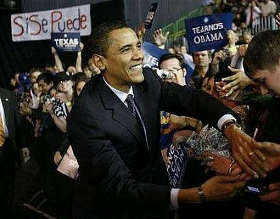 Barack Obama in Corpus Christi. (AP photo)