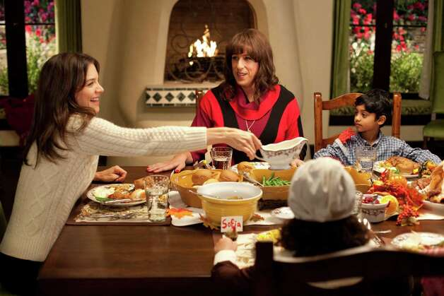 "Katie Holmes as ""Erin"" and Adam Sandler as ""Jill"" in Columbia Pictures' JACK AND JILL. Photo: SONY PICTURES / © 2011 CTMG"
