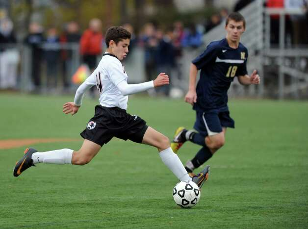 Tuesday's Class LL quarterfinal soccer game against Newington at Stamford High School. Photo: Lindsay Niegelberg / Stamford Advocate