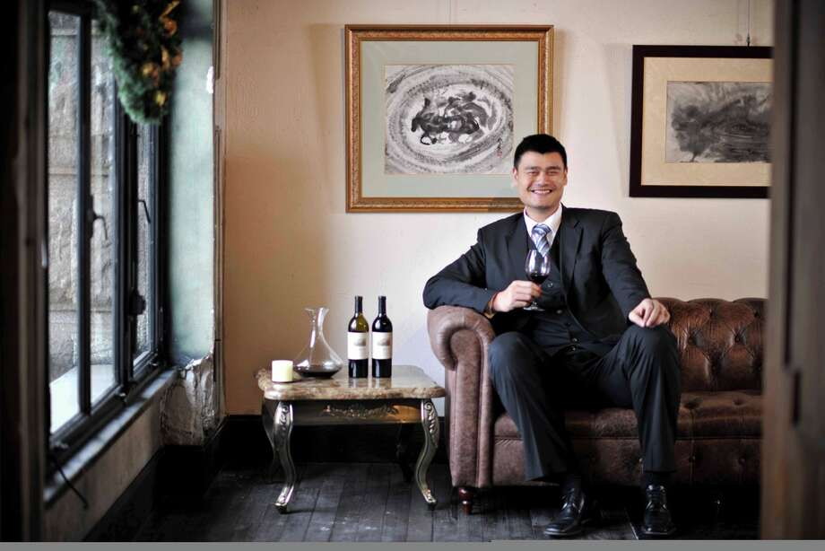Yao Ming may be out of basketball, but his new team is one of winemakers. His name graces the label of two Napa Valley cabernets. Photo: Yao Family Wines