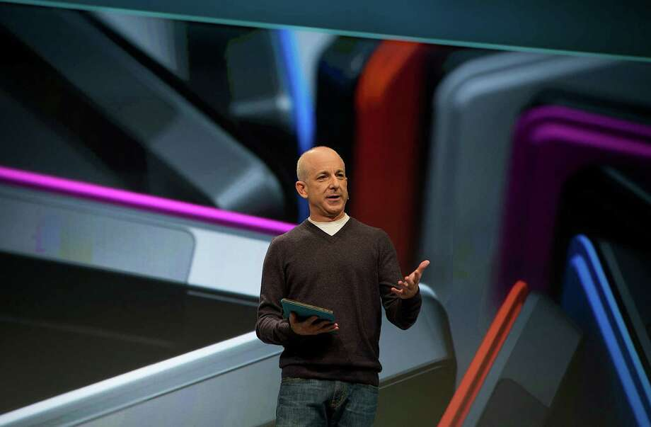 Steven Sinofsky, president of the Windows group at Microsoft Corp., speaks during an event in New York, U.S., on Thursday, Oct. 25, 2012. Microsoft Corp. will be constrained in a contest against Apple Inc. in the market for handheld computers by unveiling a tablet that doesn't work with some of the most widely used downloadable applications. Photographer: Scott Eells/Bloomberg *** Local Caption *** Steven Sinofsky Photo: Scott Eells / © 2012 Bloomberg Finance LP