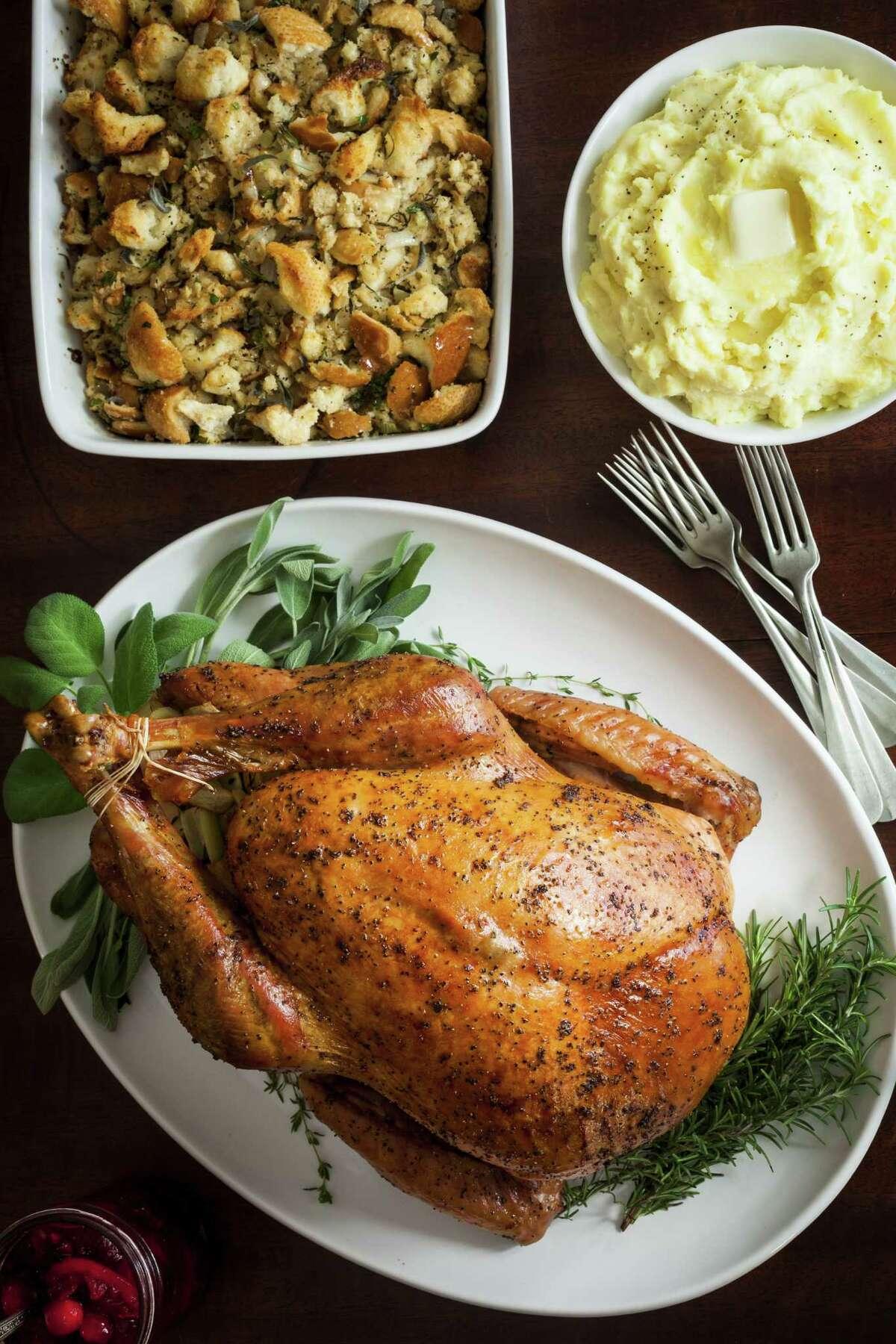 Thanksgiving dinner photographed, Monday, Nov. 5, 2012, in Houston. Food stylist Carla Buerkle. ( Michael Paulsen / Houston Chronicle )