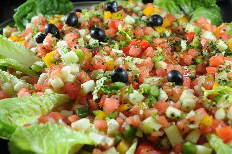 Salad plate at Sababa Mediterranean Grill