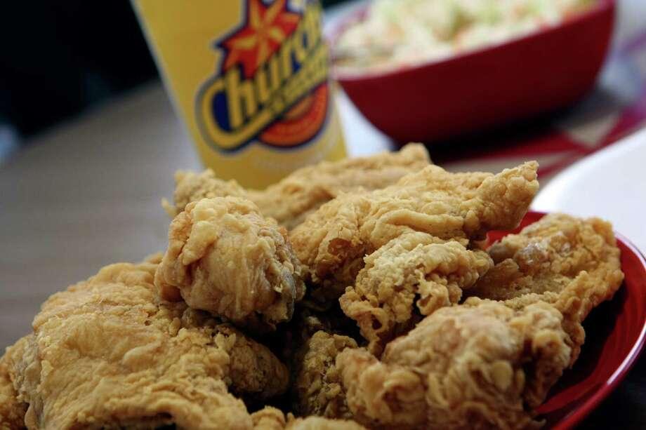 Church's chicken is celebrating its 60th anniversary this year. Photo: Helen L. Montoya, San Antonio Express-News / ©SAN ANTONIO EXPRESS-NEWS