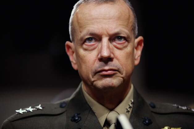 According to reports November 13, 2012, ISAF Commander Gen. John Allen is under investigation after allegedly sending inappropriate emails to a woman linked with the scandal which resulted in the recent resignation of CIA head General David Petraeus. Photo: Chip Somodevilla, Getty Images / 2011 Getty Images