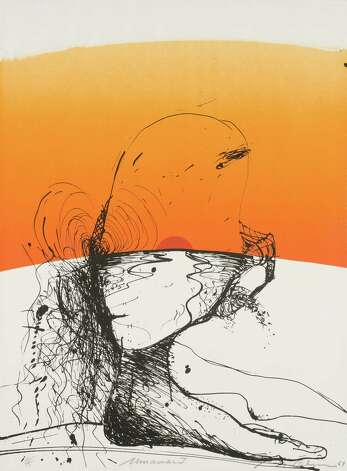 """Miramar I,"" 1969, is a lithograph from Nathan Oliveira that is included in the new fall print show at the Housatonic Museum of Art in Bridgeport. The show runs through Dec. 21. Photo: Contributed Photo"