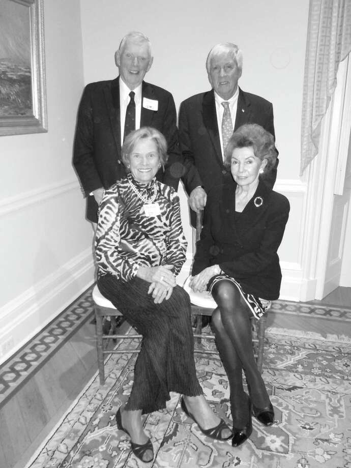 Hosts of the recent benefit for the Manhattan Christian Academy held at the Christ Church Tomes Higgins house were, from left, Russ and Debbie Reynolds and Malcolm and Natalie Pray. Photo: Anne W. Semmes