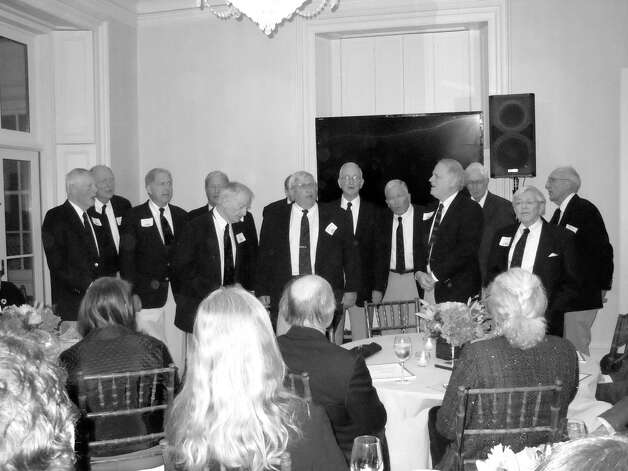 Guests at the recent benefit for the Manhattan Christian Academy were serenaded by the Whiffenpoofs, Yale Class of 1954. Photo: Contributed Photo