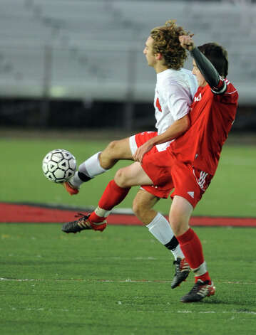 Fairfield Prep during the Class LL soccer quarterfinals against Conard Tuesday, Nov. 13, 2012 at Alumni Field on the campus of Fairfield University. Photo: Autumn Driscoll / Connecticut Post