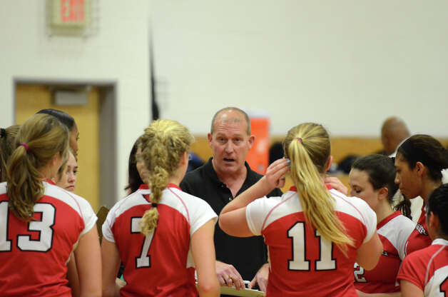 Greenwich vs. Darien girls volleyball match at Darien High School on Tuesday, Nov. 13, 2012. Photo: Amy Mortensen / Connecticut Post Freelance