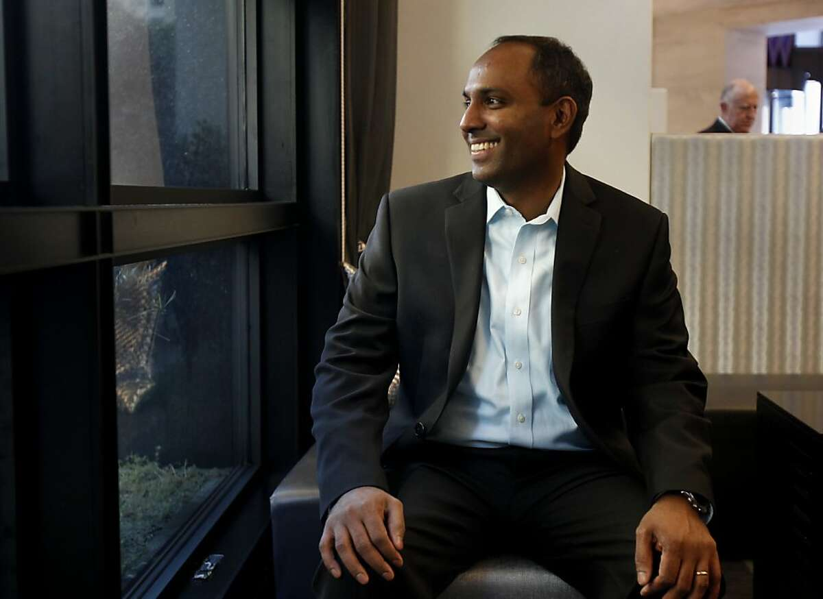 View Inc. CEO Rao Mulpuri looks out the window through some of his