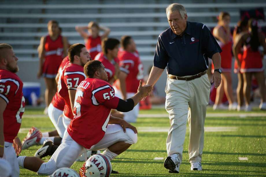 Tom Nolen can be quite the taskmaster, but former players attest to his effectiveness, as does his record - 250-68-6 at Lamar. Photo: Smiley N. Pool, Staff / © 2012  Houston Chronicle