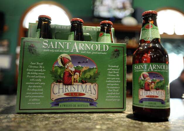 Saint Arnold Christmas Ale (7.00% ABV) is a Winter Warmer brewed by Saint Arnold Brewing Company.  This beer can be purchased locally at Millers Liquor, Debb's Liquor (St. Charles Plaza), and Spec's.   Photo taken: Randy Edwards/The Enterprise