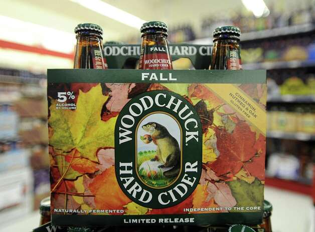 Woodchuck Fall Cider can be purchased locally at Millers Liquor, Debb's Liquor (St. Charles Plaza), and Spec's.   Photo taken: Randy Edwards/The Enterprise