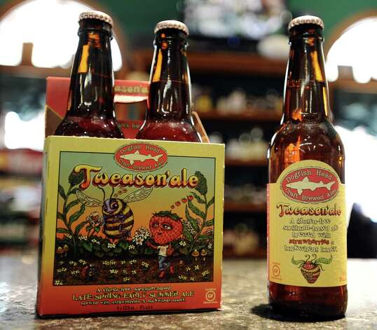 The Tweason'ale (6.00% ABV) is a fruit / vegetable beer that is brewed by The Dogfish Head Craft Brewery out of Deleware.  This beer can be purchased locally at Millers Liquor, Debb's Liquor (St. Charles Plaza), and Spec's.   Photo taken: Randy Edwards/The Enterprise