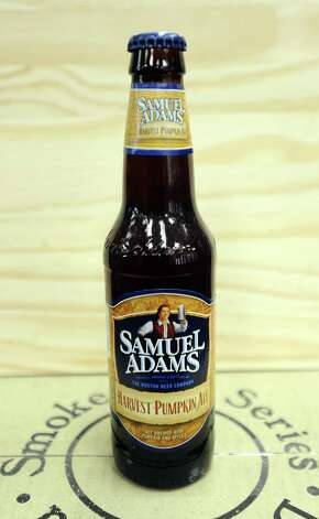 The Samuel Adams Harvest Pumpkin Ale (5.70% ABV) is a Pumpkin Ale brewed by Boston Beer Company (Samuel Adams) out of Massachusetts.  This beer can be purchased locally at Millers Liquor and Spec's.   Photo taken: Randy Edwards/The Enterprise